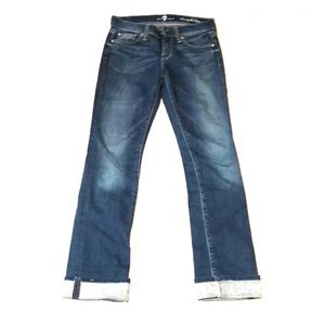 7 for all mankind medium wash jeans.